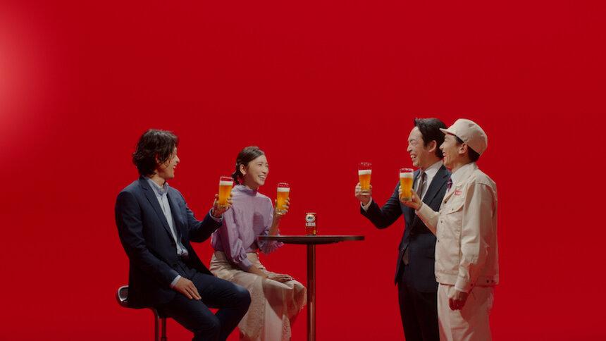 キリンビール「本麒麟」新CM「目隠し 2021」篇より
