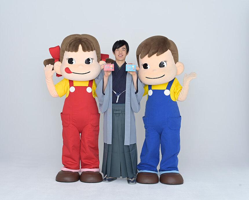 藤井聡太とペコちゃん&ポコちゃん