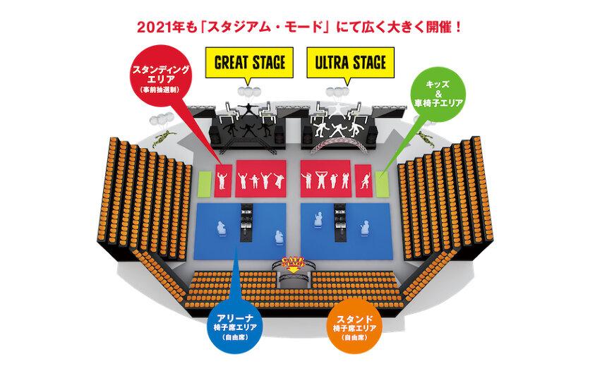 『VIVA LA ROCK 2021』会場マップ