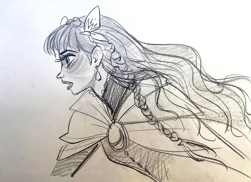 『竜とそばかすの姫』キャラクターデザインボード ©2021 スタジオ地図