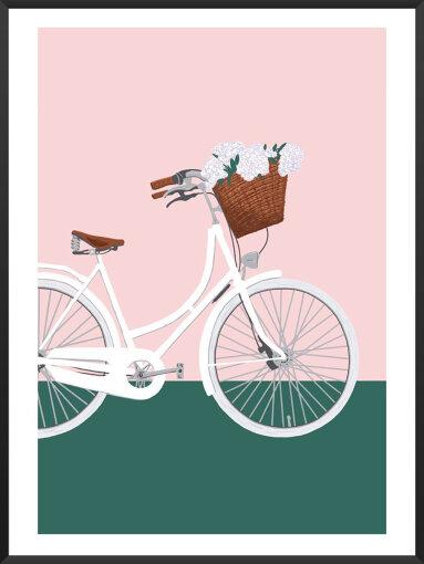 春コレクションの人気ポスター「Biking Into Spring」