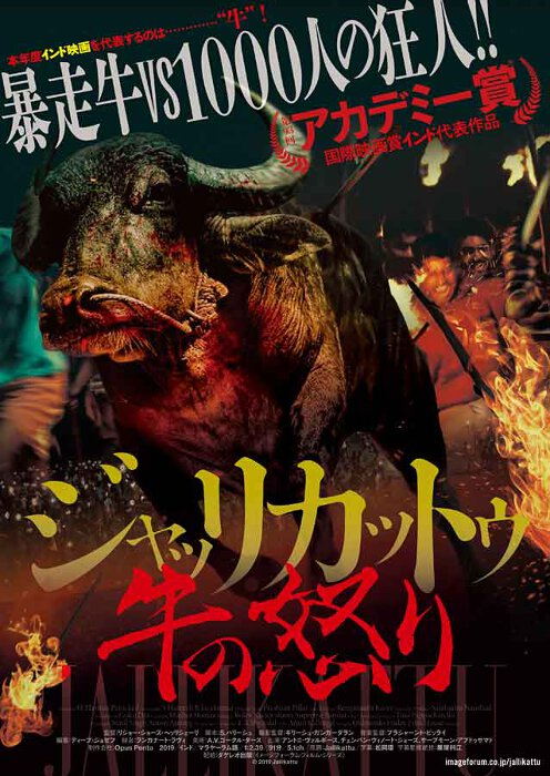 『ジャッリカットゥ 牛の怒り』日本版ポスタービジュアル © 2019 Jallikattu