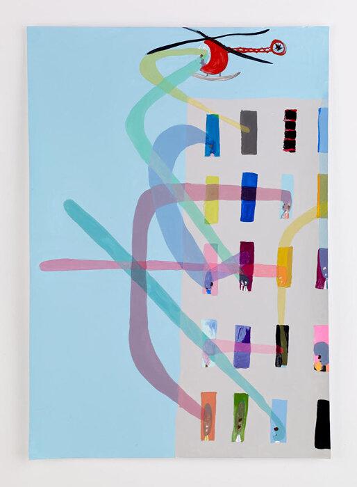 ピーター・マクドナルド『Apartments Study (Extensions)』2007, 42×29.5cm, Acrylic gouache on paper