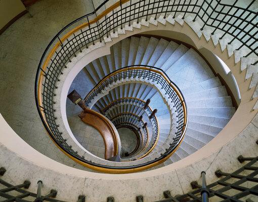 ポホヨラ保険会社ビルディングの中央らせん階段、Photo ©Museum of Finnish Architecture/ Karina Kurz, 2008