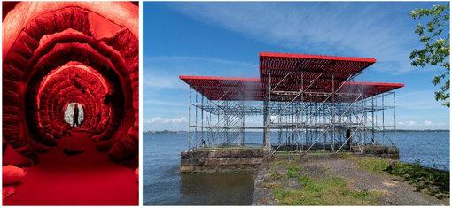 左:Dafna Maimon: Indigestibles, 2021 ©Maija Toivanen/HAM/Helsinki Biennial 2021.<br>右:Jaakko Niemelä: Quay 6, 2021 ©MaijaToivanen/HAM/Helsinki Biennial 2021