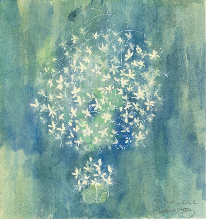 """大垣美穂子『""""Star Tales—flowers constellation""""のためのドローイング』2021 © Mihoko Ogaki"""
