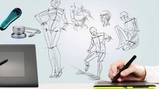 『左手デバイス O2』を用いた作品制作イメージ