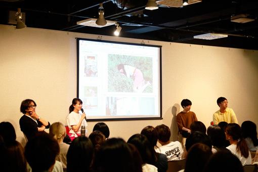 左から:藤田一浩、臼田あさ美、奥山由之、川島小鳥