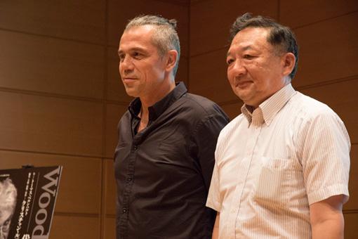 左から:ピョトル・ルツキ(演劇学者、ヴロツワフ・ポーランド劇場文芸部長)、市村作知雄(『F/T』ディレクター)