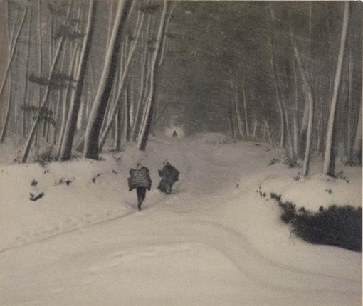 『雪日』1925(大正14)年 横浜美術館蔵