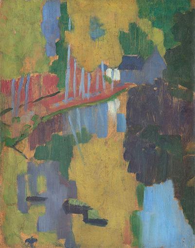 ポール・セリュジエ『タリスマン(護符)、愛の森を流れるアヴェン川』1888年 ©RMN-Grand Palais (musee d'Orsay) / Herve Lewandowski / distributed by AMF