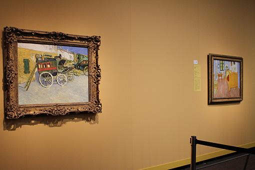 フィンセント・ファン・ゴッホ『タラスコンの乗合馬車』(左)は日本初公開