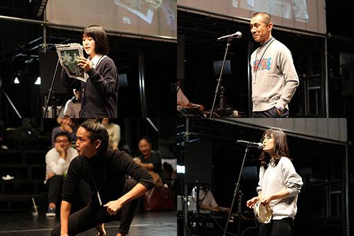一発ギャグを披露したり、アラバマ・シェイクスを歌ったりする参加者も。 撮影:井戸沼紀美