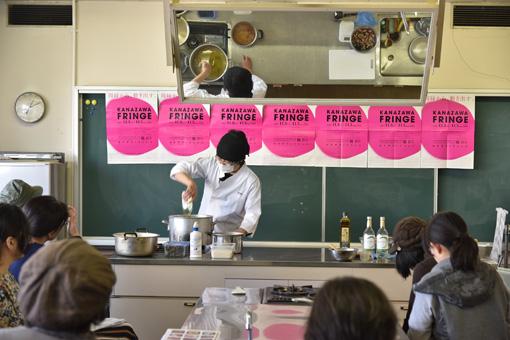 『TEI-EN Bento Project』BENTO 仕込み見学会 / 販売する「金沢奇妙弁当」の公開仕込みをしながらのトーク / ©IKEDA Hiraku