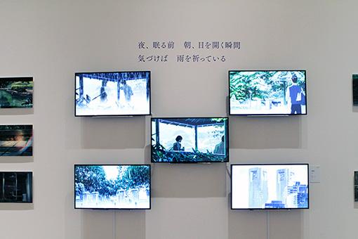 『言の葉の庭』展示風景