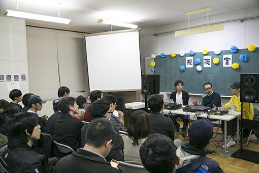 会場の様子(左から:柴那典、宇野維正、田中宗一郎)