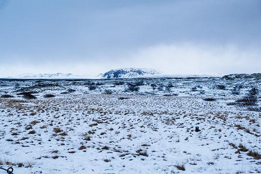 冬のアイスランドはまさに、地の果てといった様相