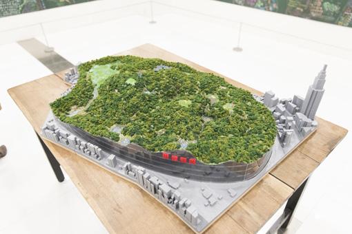 『新宿御苑大改造計画』ジオラマ