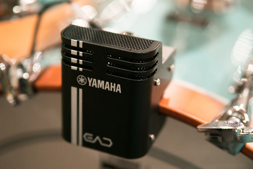 EAD10のセンサーユニット。バスドラムのフープに装着する