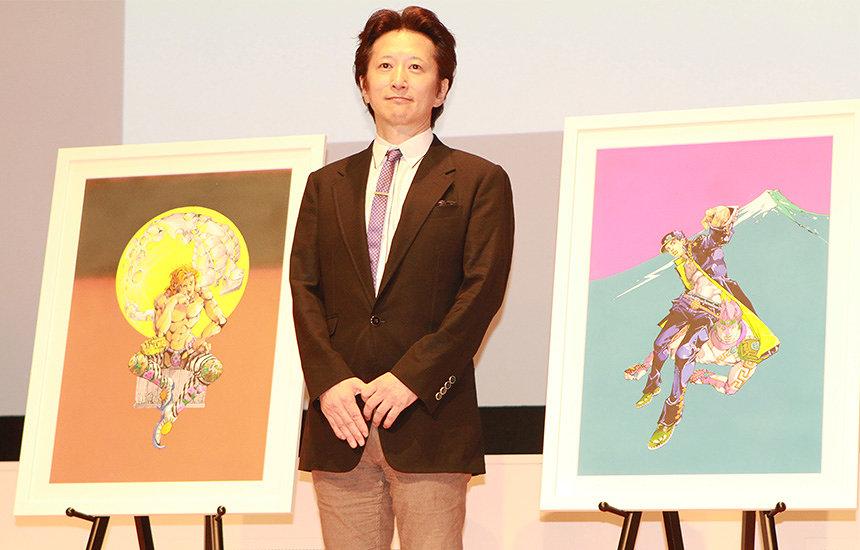 荒木飛呂彦が国立新美術館で「漫画界に感謝」 原画展の記者発表会に登場