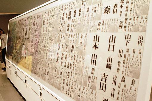 約8万の名字が、名前の人口に比例したサイズで並ぶ『全国名字かずくらべ』