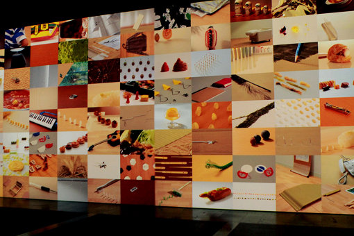 「体感のへや」展示風景。展示室の四方の壁面全体に映像が映し出される