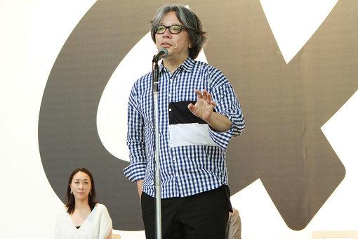 『デザインあ展 in TOKYO』内覧会に登壇した中村勇吾