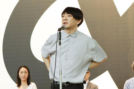 『デザインあ展 in TOKYO』内覧会に登壇した小山田圭吾