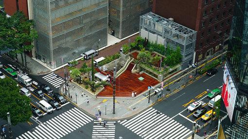 Ginza Sony Parkの俯瞰写真
