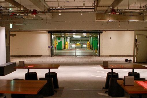 地下3階は西銀座駐車場と接続
