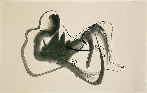 イサム・ノグチ『北京ドローイング(横たわる男)』1930年 インク、紙 イサム・ノグチ庭園美術館(ニューヨーク)蔵 ©The Isamu Noguchi Foundation and Garden Museum, New York / Artist Rights Society [ARS] - JASPAR. Photo by Kevin Noble.</p>
