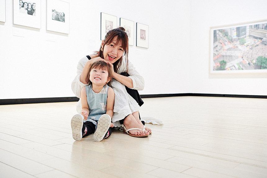 坂本美雨が親子で美術館へ。美術館は親子にも開かれた場所