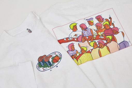 北九州の体験を元にZEN-LA-ROCKとNONCHELEEEが制作したTシャツ。入手方法は「ふるさとチョイス」にて