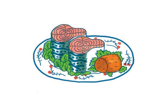 NONCHELEEEによる鯖缶のイラスト
