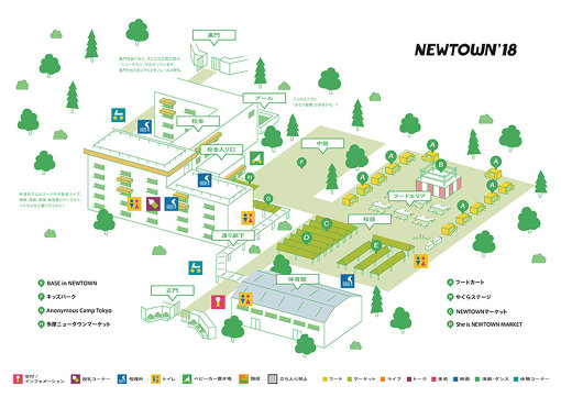 『NEWTOWN 2018』の全体MAP