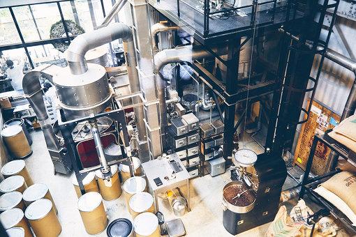 店内の焙煎工場の様子