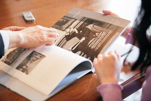 『フィリップス・コレクション展』冊子に載る、ダンカン・フィリップスの写真