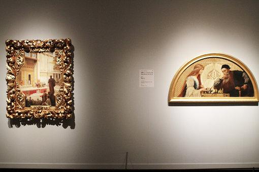 (左) フランツ・マッチュによるブルグ劇場天井画のための下絵