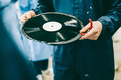 プレス直後のレコード
