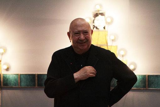国立新美術館『クリスチャン・ボルタンスキー ―Lifetime』展の内覧会に参加したクリスチャン・ボルタンスキー