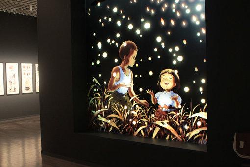 『火垂るの墓』 ©野坂昭如/新潮社, 1988 展示風景