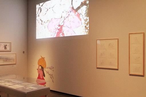 『かぐや姫の物語』 ©2013 畑事務所・Studio・Ghibli・NDHDMTK 展示風景
