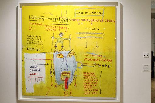 ジャン=ミシェル・バスキア Onion Gum, 1983 acrylic and oilstick on canvas, 198.1 x 203.2 x 5cm, Courtesy Van de Weghe Fine Art, New York, Photo: Camerarts, New York Artwork © Estate of Jean-Michel Basquiat. Licensed by Artestar, New York