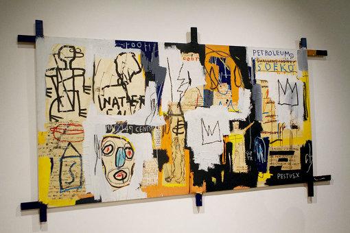 ジャン=ミシェル・バスキア Fooey, 1982 acrylic and oilstick on canvas, 178 x 355.6 cm, The Museum of Art, Kochi Artwork © Estate of Jean-Michel Basquiat. Licensed by Artestar, New York