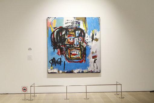 前澤友作の所蔵作品 ジャン=ミシェル・バスキア Untitled, 1982 oilstick, acrylic, spray paint on canvas, 183.2 x 173 cm, Yusaku Maezawa Collection, Chiba Artwork © Estate of Jean-Michel Basquiat. Licensed by Artestar, New York