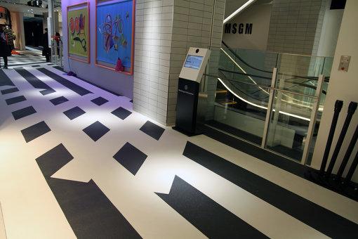 テセウス・チャンによる共用部分。渋谷のスクランブル交差点を意識したという