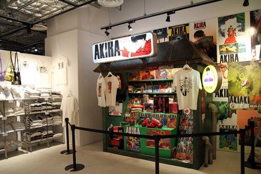 PARCO MUSEUM TOKYO。『AKIRA』第6巻に描かれたキオスクをイメージ
