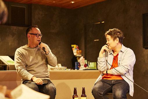 左から:西田善太、柏井万作