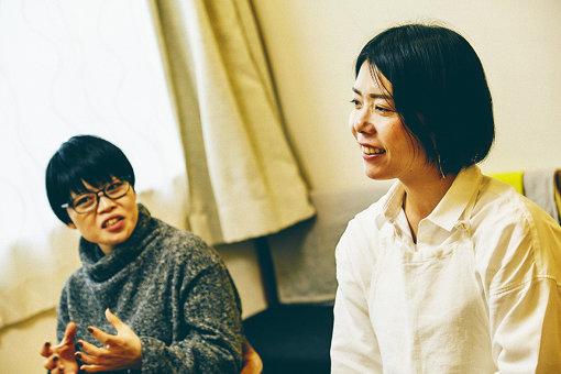 左から:三浦みち子、榎本美沙