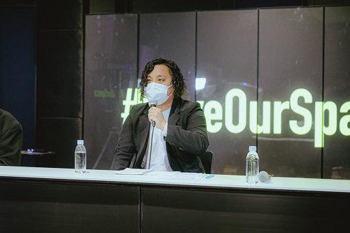 スガナミユウ 3月31日に行なわれた「#SaveOurSpace」の会見より 撮影: Leo Youlagi